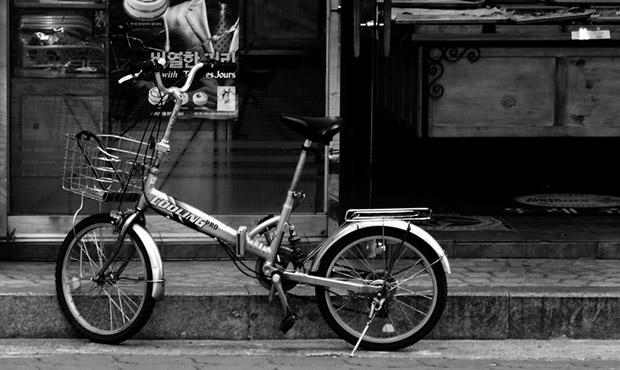 Bike in Front of the Bakery