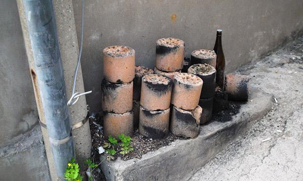 Burned Charcoal Briquettes