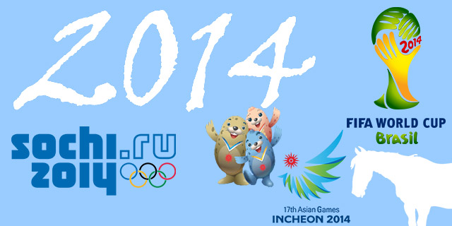 Three big sporting events coming in 2014