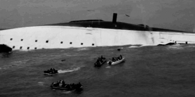 Ferry Sewol sinking near Jindo, Korea (April 2014)